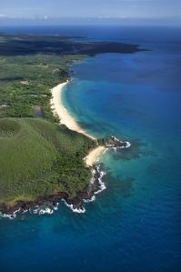 maui big beach aerial