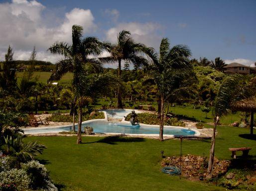 Tropical Resort like pool and spa at 425 Manawai Place, Haiku, Maui, Hawaii