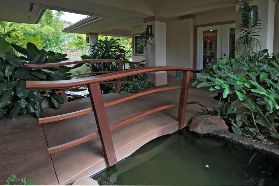 Ocean view home for sale in wailuku country estates maui for Garden pond bridges sale