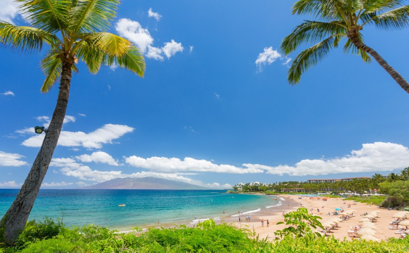 Wailea Beach in front of Four Seasons Resort Maui