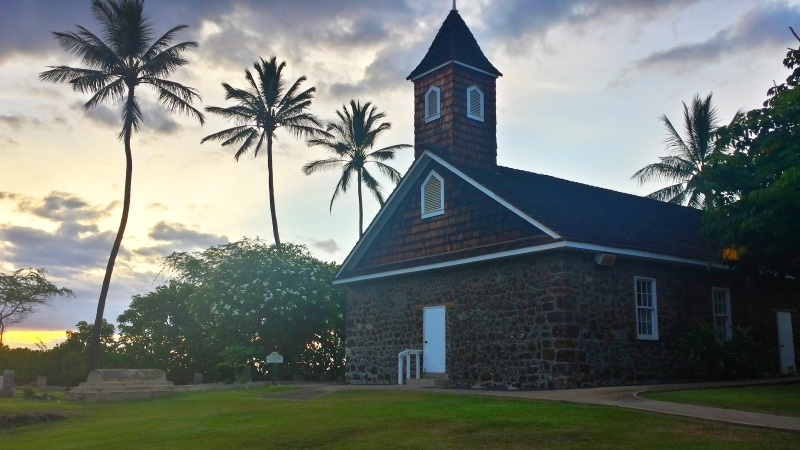 Keawala'i Church on the shore in Makena, Maui