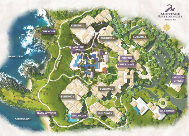 Montage at Kapalua Bay Site Map