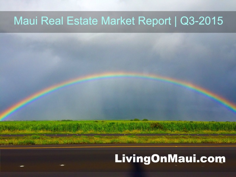 Maui Real Estate Market Report year to date Sept. 2015